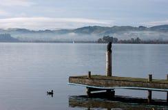 Rotorua pier Royalty Free Stock Images
