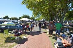 Rotorua Soundshell Market - New Zealand Stock Image