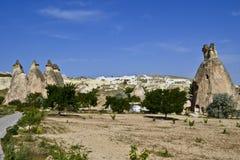 Rots-besnoeiing kerken in Cappadocia royalty-vrije stock foto's