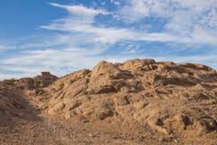 Rots in de woestijn in Egypte Royalty-vrije Stock Afbeelding