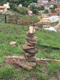 Rots die in Brazilië stapelen Royalty-vrije Stock Fotografie