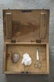 Rots, Document, Schaar Royalty-vrije Stock Afbeelding