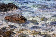 Rots en blauwe overzees Stock Foto