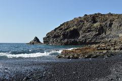 Rots en overzees in de Canarische Eilanden van Tenerife Royalty-vrije Stock Foto