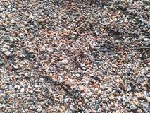 Rots en zand op strandachtergrond Royalty-vrije Stock Fotografie