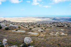 Rots in Gobustan, Azerbeidzjan Stock Fotografie