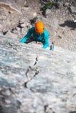 Rots-klimmer op een rots Royalty-vrije Stock Afbeeldingen