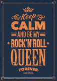 Rots Koningin Typography Stock Fotografie