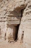 Rots met sedimentaire lagen Stock Afbeeldingen
