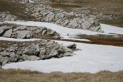 Rots met sneeuw op het Plateau Royalty-vrije Stock Foto