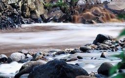 Rots naast rivier Stock Afbeeldingen