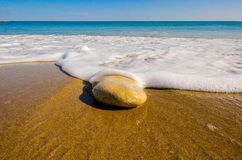 Rots op het strand Stock Foto