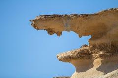 Rots op het strand van S Calo des Mort, Formentera, Spanje Stock Afbeeldingen
