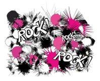 Rots roze zwart-wit patroon stock illustratie