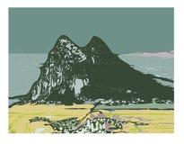 Rots van Gibraltar stock illustratie