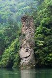 Rots in vorm van een gezicht in Baofong-Meer, Zhangjiajie, China Royalty-vrije Stock Fotografie