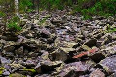 Rotsachtig beklim de berg Royalty-vrije Stock Afbeelding