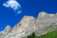 Rotsachtig de berglandschap van dolomietalpen Stock Afbeelding
