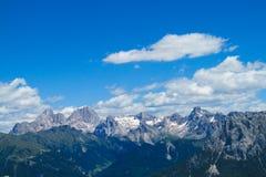 Rotsachtig de berglandschap van dolomietalpen Stock Afbeeldingen