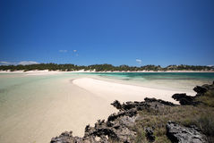 Rotsachtig Eiland in Sakalava baai, Madagascar Royalty-vrije Stock Foto
