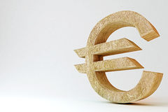 Rotsachtig Euro Symbool Royalty-vrije Illustratie