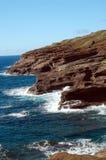Rotsachtig Makapu'u Strand Hawaï stock foto's