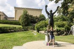 Rotsachtig standbeeld, Philadelphia stock afbeeldingen