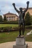Rotsachtig Standbeeld in Philadelphia Royalty-vrije Stock Foto's