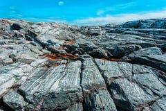 Rotsachtig steenlandschap stock afbeelding