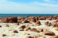 Rotsachtig Strand bij de Baai van de Bunker Stock Foto