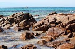 Rotsachtig Strand bij de Baai van de Bunker Stock Foto's
