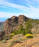 Rotsachtig zet van het eiland van Gran Canaria op Stock Afbeelding
