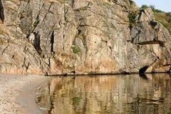rotsachtige banken van Dnieper Stock Afbeeldingen