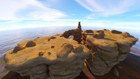 Rotsachtige berg Royalty-vrije Stock Fotografie