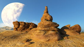 Rotsachtige berg Royalty-vrije Stock Afbeelding