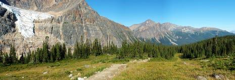 Rotsachtige berg en weiden stock fotografie