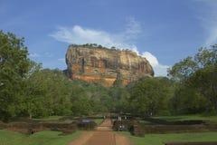 Rotsachtige berg Sigiriya, Sri Lanka Stock Fotografie