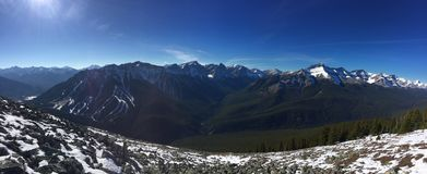 Rotsachtige Bergen Canada royalty-vrije stock foto's