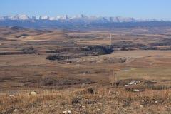 Rotsachtige bergen en uitlopers Royalty-vrije Stock Foto
