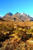 Rotsachtige bergen van Schotse Hooglanden Stock Foto's