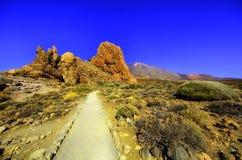Rotsachtige bergen van Tenerife stock foto's