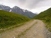 Rotsachtige bergweg Royalty-vrije Stock Foto