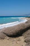 Rotsachtige Egeïsche kust Royalty-vrije Stock Afbeelding