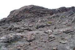 Rotsachtige helling van Cayambe-Vulkaan Stock Fotografie