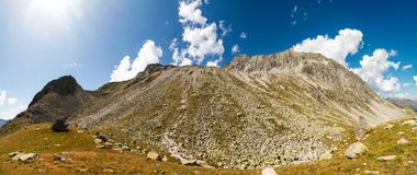 Rotsachtige hellingen van Almerhorn-berg Royalty-vrije Stock Foto