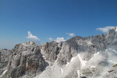 Rotsachtige heuvels van Jezerce, Noord-Albanië Royalty-vrije Stock Afbeeldingen