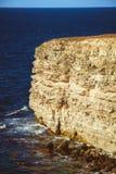 Rotsachtige klippen, de kust van de Zwarte Zee Stock Foto's