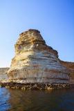 Rotsachtige klippen, de kust van de Zwarte Zee Royalty-vrije Stock Fotografie