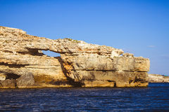 Rotsachtige klippen, de kust van de Zwarte Zee Stock Afbeelding