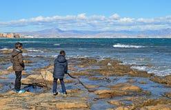 Rotsachtige kust Royalty-vrije Stock Afbeelding